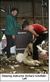 Shearing Instructor Richard Schofield - Left