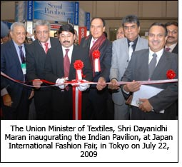 The Union Minister of Textiles, Shri Dayanidhi Maran inaugurating the Indian Pavilion, at Japan International Fashion Fair, in Tokyo on July 22, 2009.