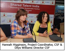 Hannah Higginson, Project Coordinator, CSF & Dilys Williams Director CSF