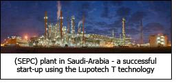 (SEPC) plant in Saudi-Arabia – a successful start-up using the Lupotech T technology