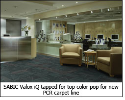 SABIC Valox iQ tapped for top color pop for new PCR carpet line