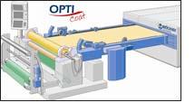 BRÜCKNER stenter with integrated Stork Prints rotary printing screen