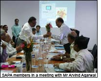 SAPA members in a meeting with Mr Arvind Agarwal
