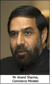 Mr Anand Sharma, Commerce Minister