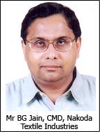 Mr BG Jain, CMD, Nakoda Textile Industries
