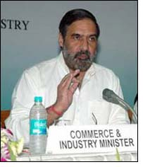 The Union Minister of Commerce and Industry, Shri Anand Sharma addressing a Press Conference to announce the Foreign Trade Policy, in New Delhi.