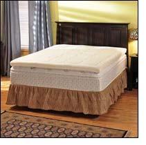 "sensorPEDIC  Grand 3"" Quilted Memory Foam Queen Mattress Topper"