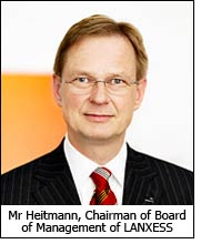 Mr Heitmann, Chairman of Board of Management of LANXESS