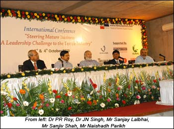 From left: Dr PR Roy, Dr JN Singh, Mr Sanjay Lalbhai, Mr Sanjiv Shah, Mr Naishadh Parikh
