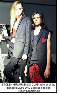 STOLEN GIRLFRIENDS CLUB: winner of the inaugural    2008 DHL Express Fashion Export Scholarship