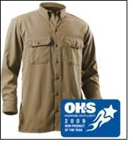 12.1 Arc-Rated Woven Shirt wins OH&S 'New Product of the Year'