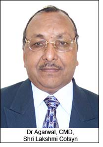 Dr Agarwal, CMD, Shri Lakshmi Cotsyn