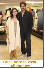 Priya Vasudevan with Wendell Rodricks