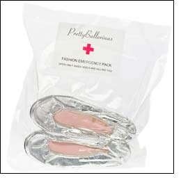 Fashion Emergency Pack: 'Open only when heels are killing you'