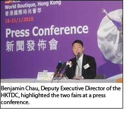 Benjamin Chau, Deputy Executive Director of the HKTDC, highlighted the two fairs at a press conference.