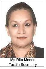 Ms Rita Menon, Textile Secretary