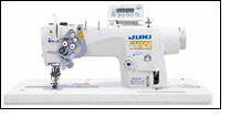 LH-3500A sews two lockstitch seams in parallel with 2-needle
