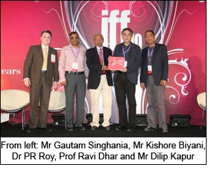 From left: Mr Gautam Singhania, Mr Kishore Biyani, Dr PR Roy, Prof Ravi Dhar and Mr Dilip Kapur