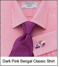 Dark Pink Bengal Classic Shirt