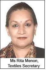 Ms Rita Menon, Textiles Secretary