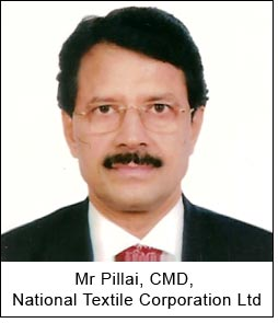 Mr Pillai, CMD, National Textile Corporation Ltd