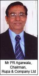 Mr PR Agarwala, Chairman, Rupa & Company Ltd