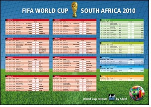 Stahl's FIFA World Cup wallchart