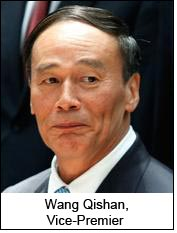 Mr Wang Qishan, Vice-Premier