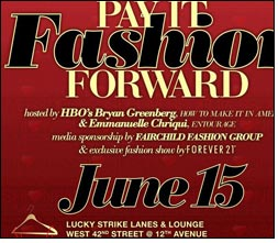 Pay It Fashion Forward to be held in NYC