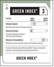 Timberland to expand innovative Green Index label