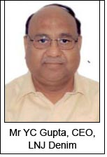 Mr YC Gupta, CEO, LNJ Denim