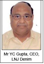 Mr YC Gupta, CEO, LNJ Denim