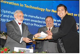 Veeral Desai receiving environmental award