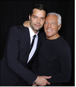 Giorgio Armani to design for Ricky Martin
