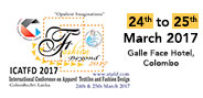 2nd International Conference on Apparel Textiles & Fashion Design