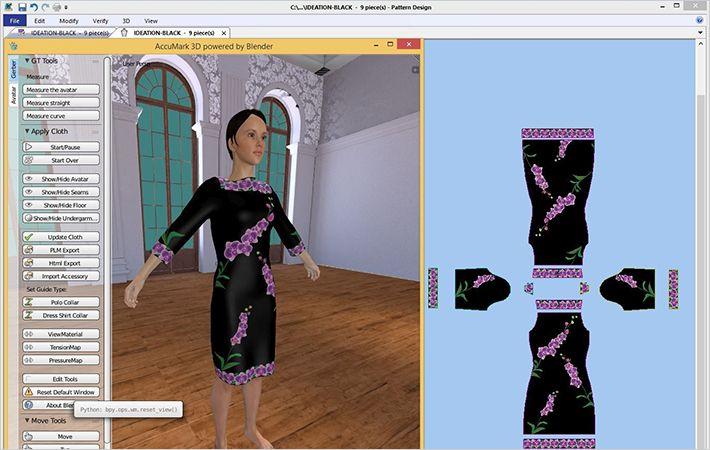 Gerber AccuMark V10 3D Visualization Technology 1