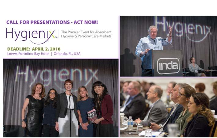 INDA calls for presentations for Hygienix 2018 expo