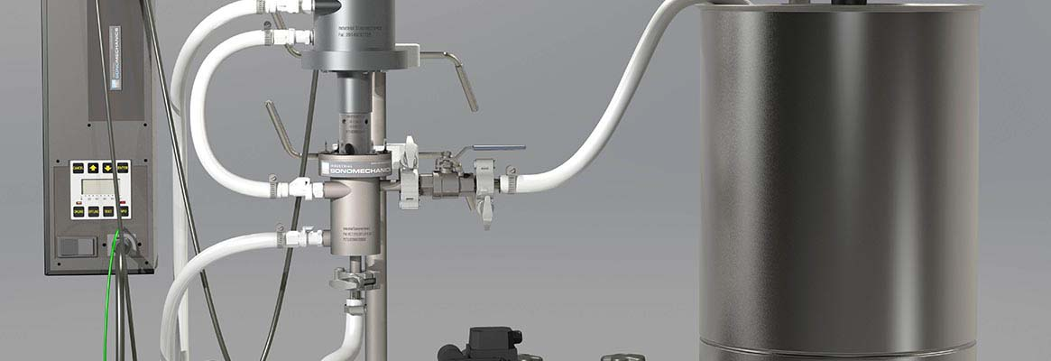Ultrasonic-assisted wet processing
