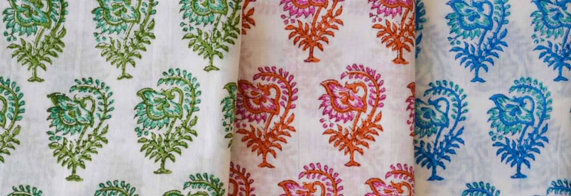 Printing of Handloom Cotton Fabric with Natural Colour