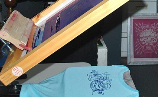 Water based inks for screen printing